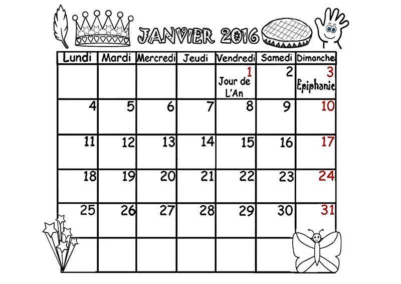 CALENDRIER 2016**