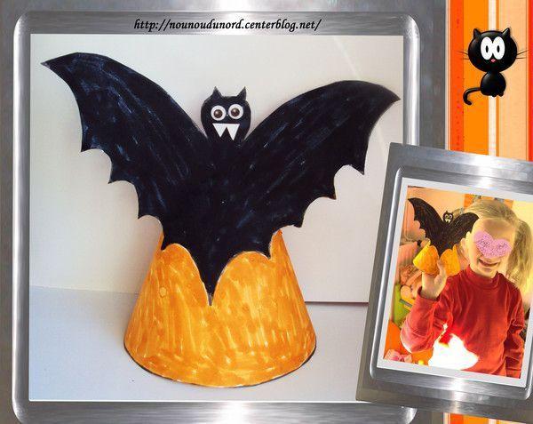 La chauve souris d 39 axelle 2010 creation de chauve souris Bricolage maternelle halloween