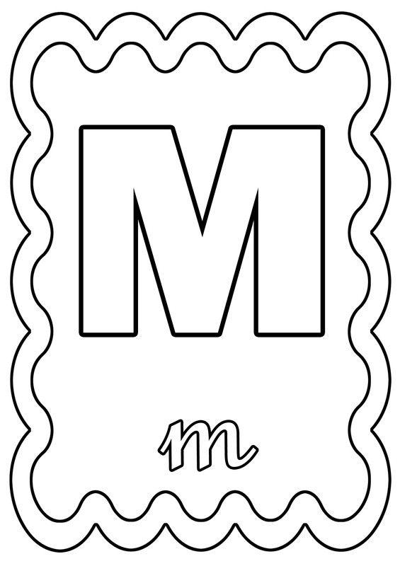 Coloriage lettre m colorier ou gommettes - Lettre a colorier ...