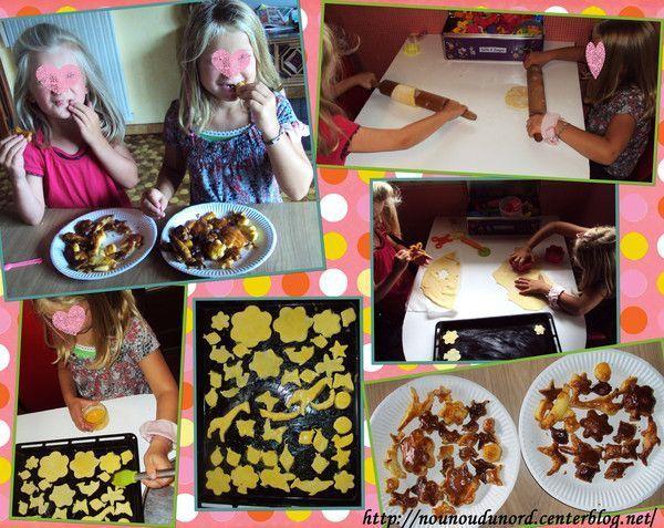 Petits gâteaux réalisés avec la pâte feuilletée