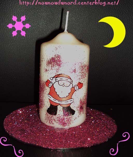 D coration de no l avec cd activit s manuelles avec cd - Decoration avec des bougies ...