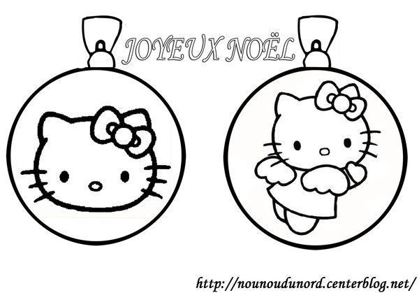 coloriage boules de no l hello kitty. Black Bedroom Furniture Sets. Home Design Ideas