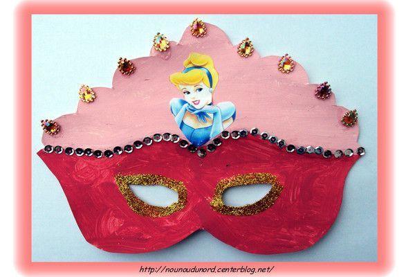 Masque de princesse réalisé par Lison