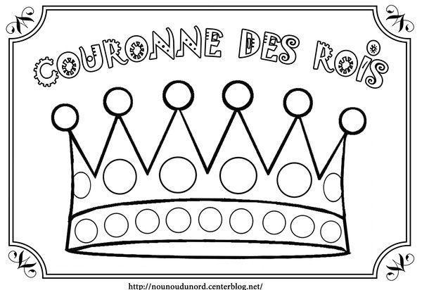Couronne des rois en coloriage gommettes en couleur - Dessin de galette ...