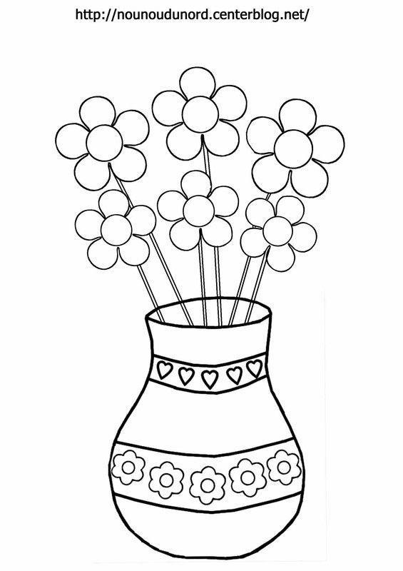 Comment dessiner des fleurs dans un vase - Dessiner un vase ...