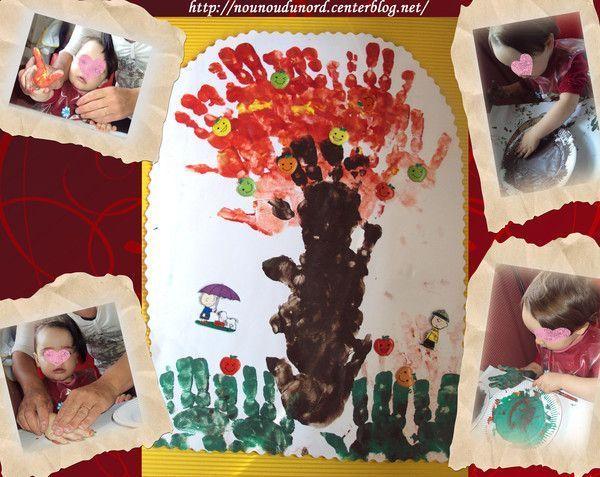 L'arbre d'automne réalisé par Annalisa 17 mois