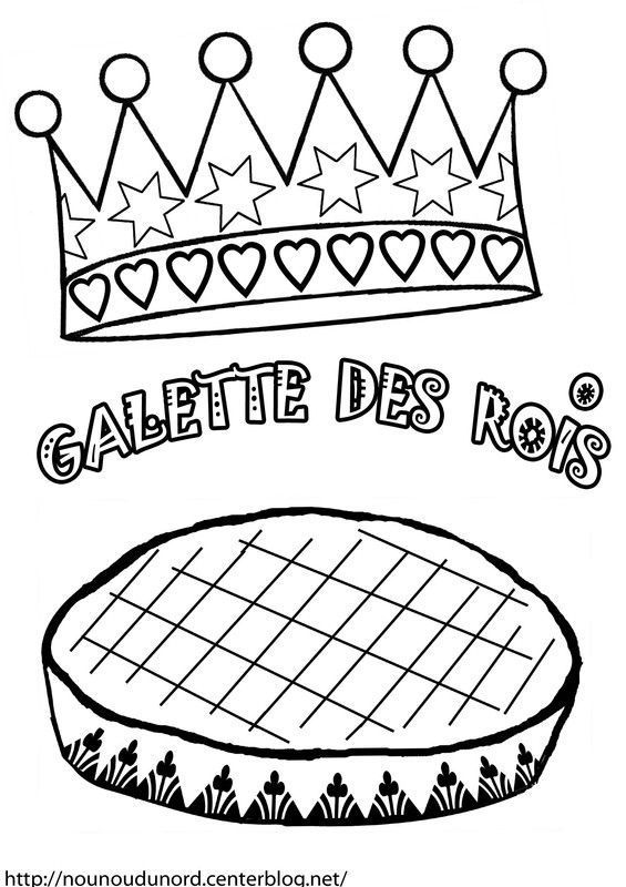 Coloriage galette des rois epiphanie - Dessin sur galette des rois ...