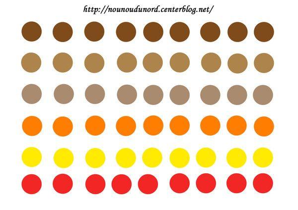 Gommettes rondes aux couleurs de l'automne