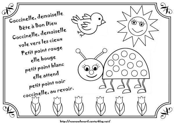 Comptine Coccinelle Demoiselle Illustree Par Nounoudunord