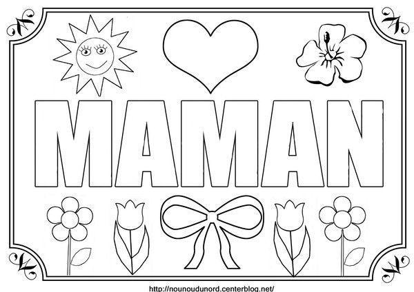 Coloriage maman centerblog - Bonne fete maman dessin ...