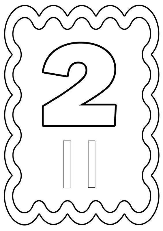 Coloriage chiffre 2 dessiné par nounoudunord.