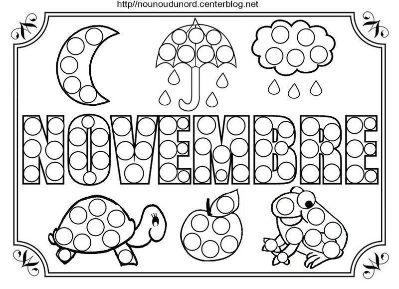 Nounoudunord bricolage avec les enfants - Coloriage novembre ...