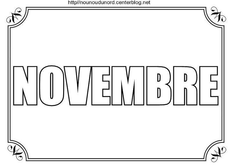 Mois De Novembre A Colorier A Gommettes