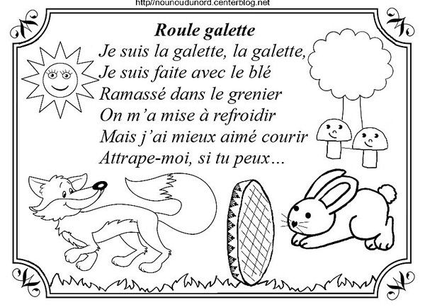 Comptine Roule Galette Coloriage Roule Galette
