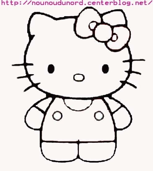 Le gabarit coloriage hello kitty - Dessin de hello kitty facile ...