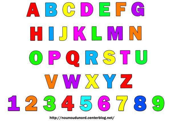 Gommettes alphabet et chiffres - Alphabet majuscule a imprimer ...