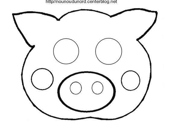 Activite masque a imprimer page 2 - Photo de cochon a imprimer ...