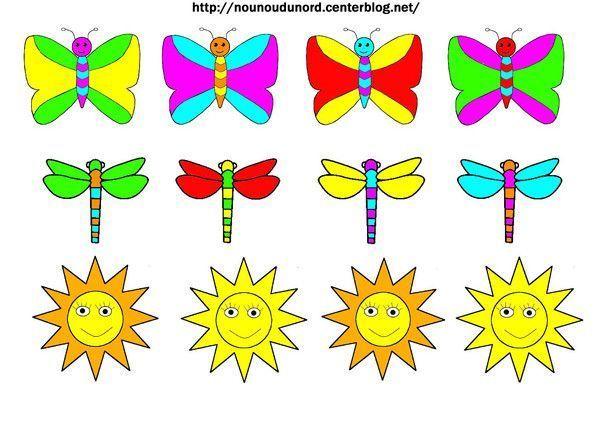 Gommettes papillons libellules soleils imprimer - Photo de libellule a imprimer ...