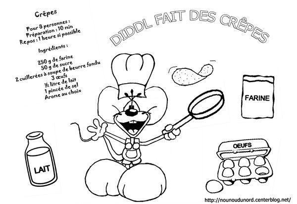 Coloriages crepes chandeleur page 2 - Diddle dessin ...