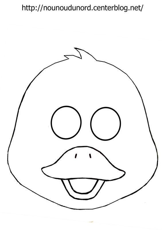 Activite masque a imprimer page 6 - Image canard a imprimer ...