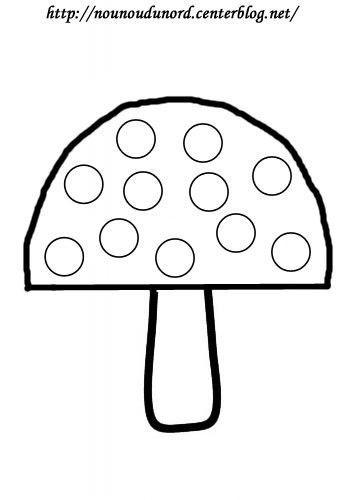Coloriage gommettes le champignon par nounoudunord - Dessin de champignons a imprimer ...