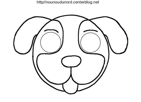 Masque chien - Chat coloriage masque ...
