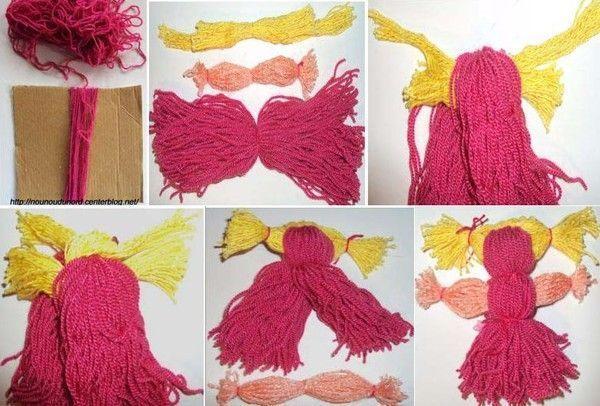 Poupée en laine pour les enfants