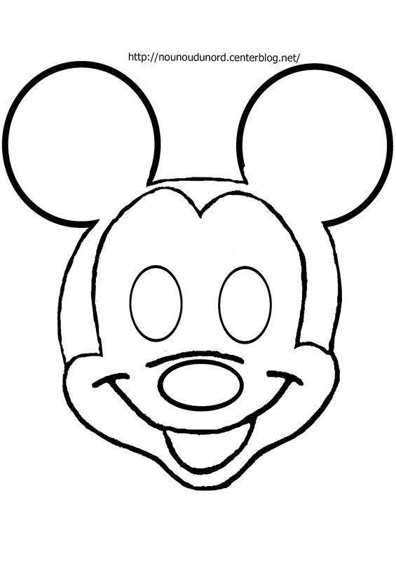 Masque mickey  à imprimer