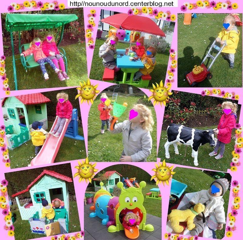 Les enfants passent du bon temps dans le jardin de nounou for Le jardin voyageur maternelle