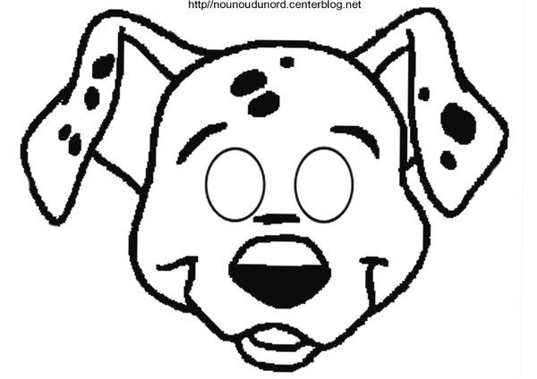 Masque 101 dalmatiens - Coloriage dalmatien ...