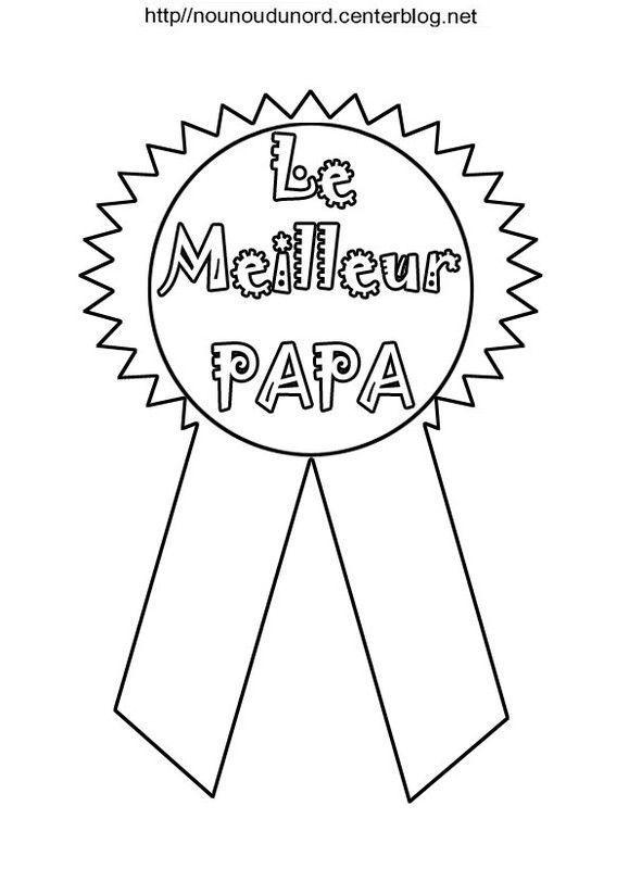Medaille meilleur papa a colorier - Diplome du super papa a imprimer gratuit ...