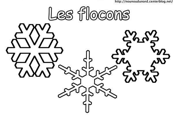 Coloriage les flocons - Dessin flocon de neige facile ...