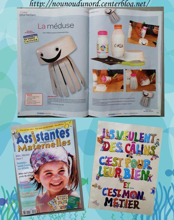 Méduse pour le magazine assistantes maternelles N°114