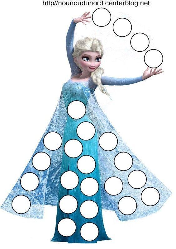 Reine des neiges pour les gommettes - Jeu reine des neige gratuit ...