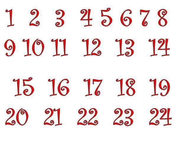 Calendrier de l 39 avent de soline avec une bo te de mouchoir - Chiffres pour calendrier de l avent a imprimer ...