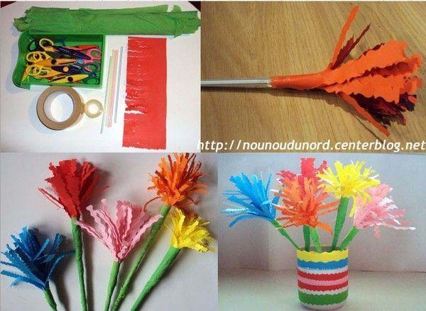 Sehr Fleurs réalisées aux ciseaux fantaisie *2010* FP94