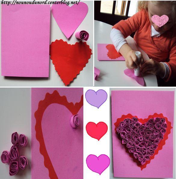 Carte avec coeur en quilling pour la f te des m res 2010 - Fabriquer un cadeau d anniversaire pour sa maman ...
