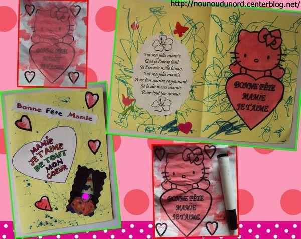 Carte d'Annalisa 22 mois pour la fête de sa mamie