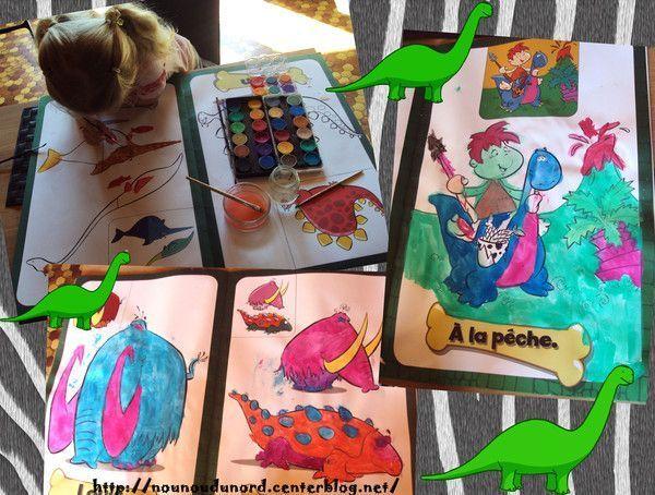 Un très grand coloriage dinosaures