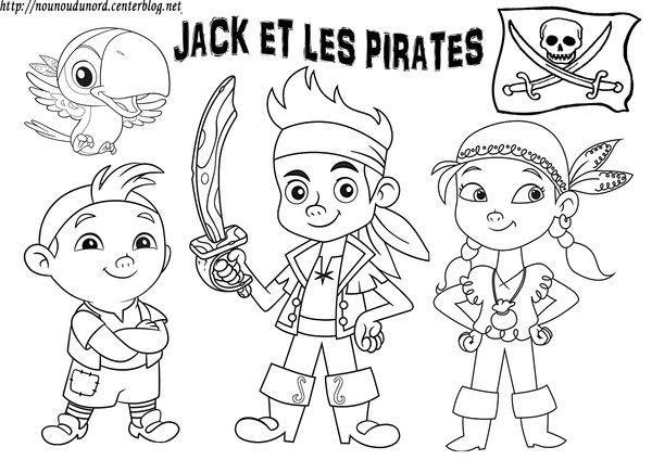 Coloriage jack et les pirates gommette - Dessin pirates ...