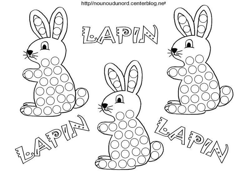 Lapin coloriage - Nounoudunord coloriage ...