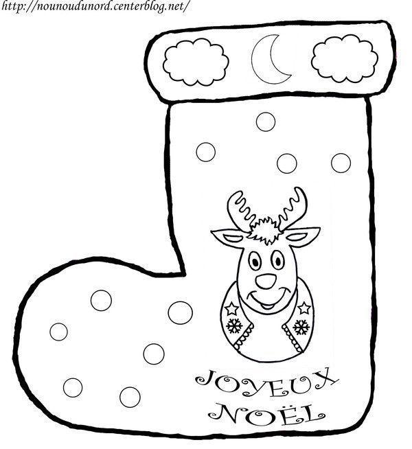 Dessin Botte De Noel.Botte De Noël Avec Renne