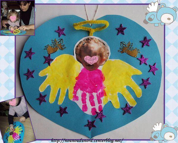 L'ange Soline avec ses empreintes de main