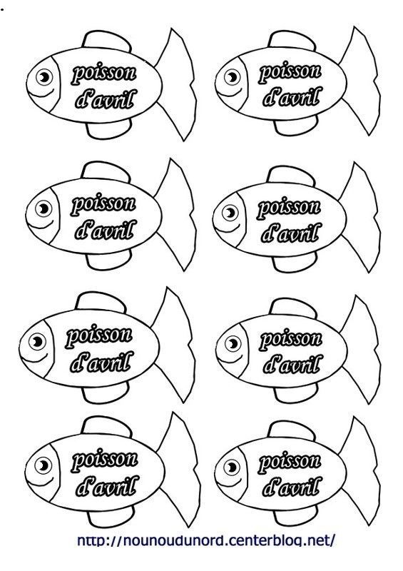 Coloriage poisson avril - Dessin de poisson d avril ...