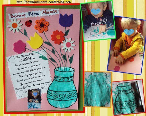 Gaspard a fait un tableau pour la fête des mamies 4/03/2012