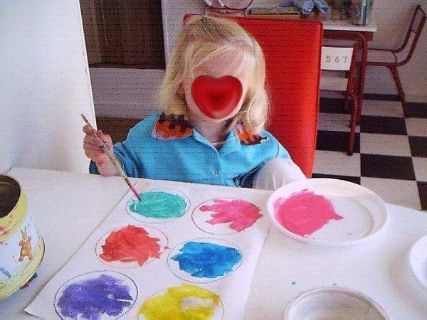 rond de couleur en peinture