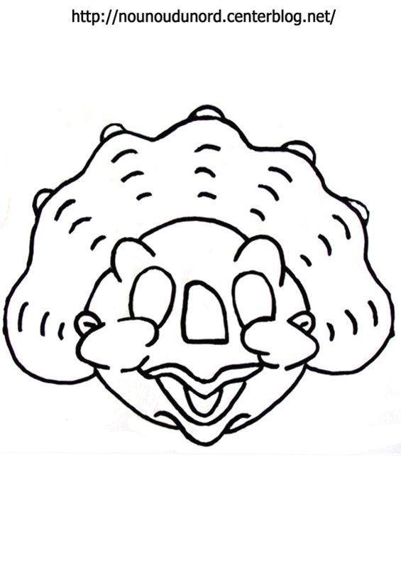 Masque Du Petit Dinosaure à Imprimer