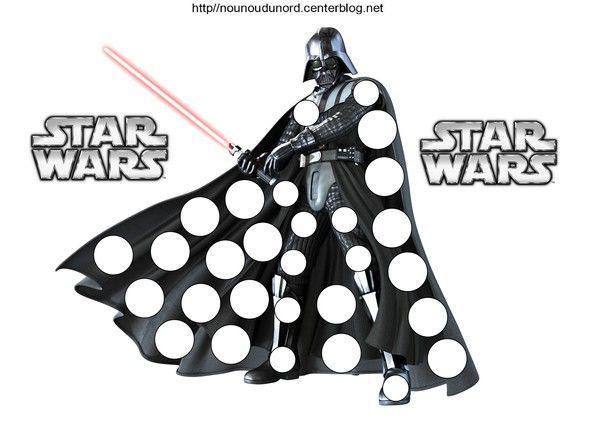 Coloriage Dark Vador De Star Wars Et Pour Gommettes Dark