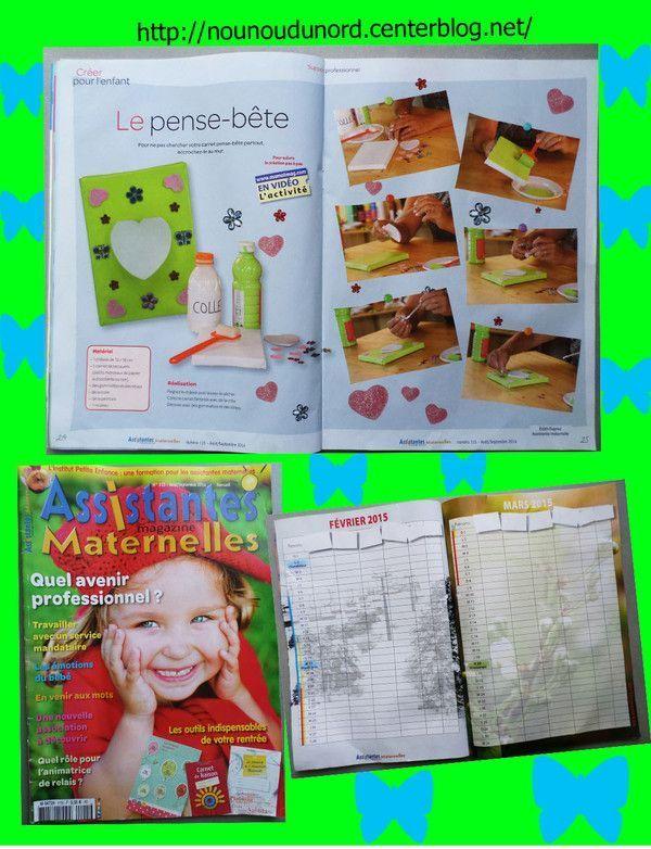 Activité pour le magazine assistantes maternelle n°115