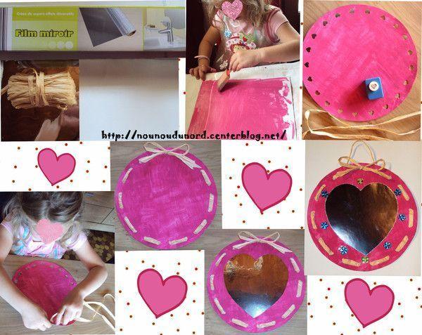 Miroir rose pour la f te des m res 2011 for Miroir adhesif a decouper